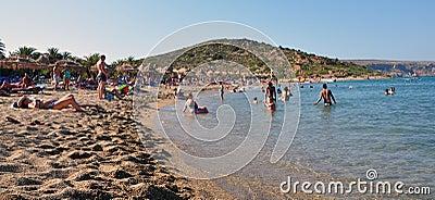 Coastline and beaches, the island of Crete, Greece, Europe Editorial Stock Photo