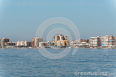 Coastline beaches in Torrevieja, Spain Editorial Stock Image