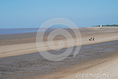 Coastline at Burnham-on-Sea, UK