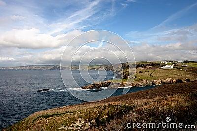 The coastline in Cornwall