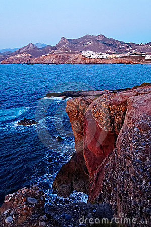Coastline of Cyclades Islands