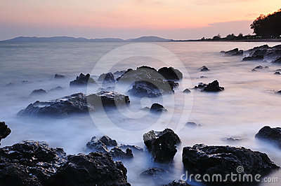 The Coastline At Dawn Stock Photography - Image: 24543642