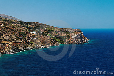 Coastline of Greek island