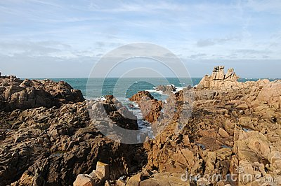 Coastline at Les Grandes Rocques, Guernsey
