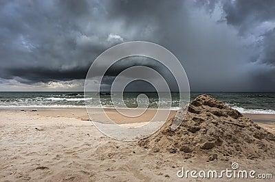 Coastline storm