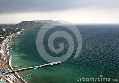 Coastline in Sudak. Crimea, Ukraine