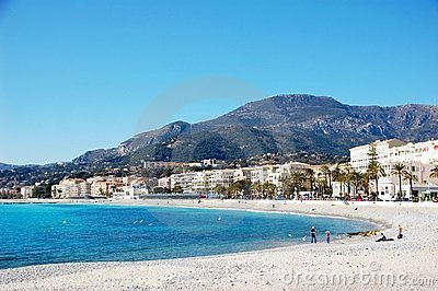 Coastline of village Menton - French Riviera - Fra
