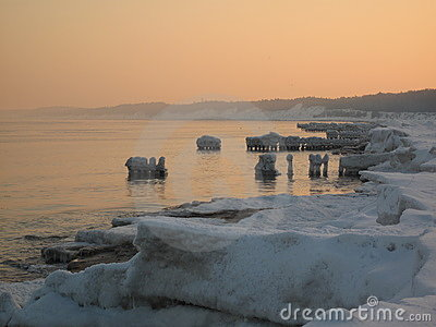 Coastline in Winter
