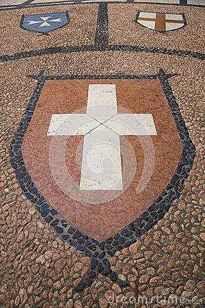 Coat of arm on the ground