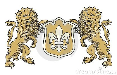 Coat of arms lions vector