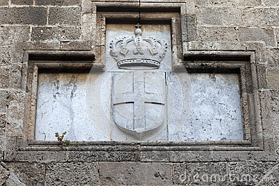 Coat of arms on wall