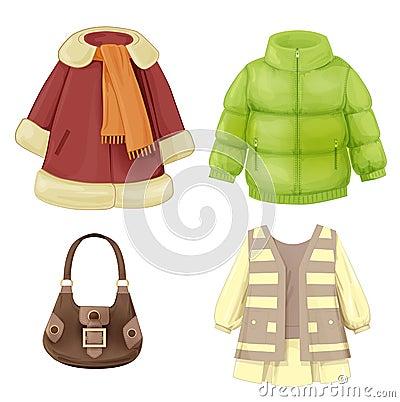 Free Coat, Dress, Padded Parka And Stock Image - 45722891
