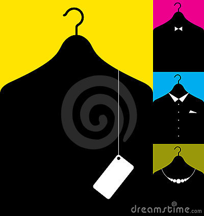 Free Coat-hanger With Clothes Royalty Free Stock Photos - 9156918