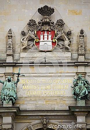 Free Coat Of Arms, Detail On Hamburg City Hall Royalty Free Stock Image - 5331366
