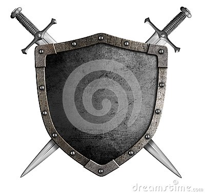 Free Coat Of Arms Medieval Knight Shield And Sword Stock Images - 46080894