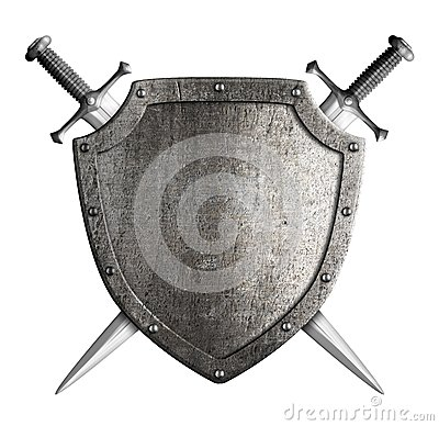 Free Coat Of Arms Medieval Knight Shield And Sword Royalty Free Stock Image - 46081856
