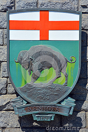 Free Coat Of Arms Of Manitoba Stock Photo - 56083710