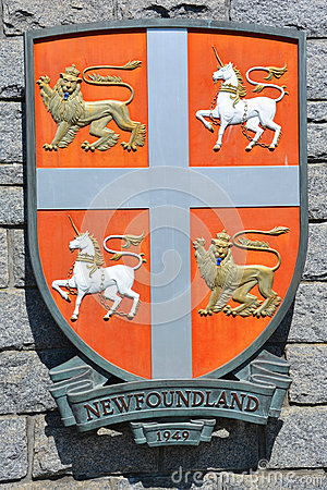 Free Coat Of Arms Of Newfoundland Stock Images - 56084344