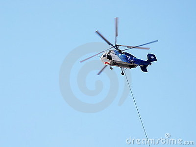 Coaxial rotored helicopter