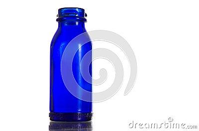 Cobalt blue antique prescription - medicine bottle