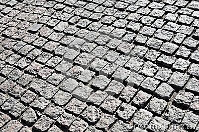 Cobble stone walk.