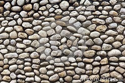 Cobble stone wall