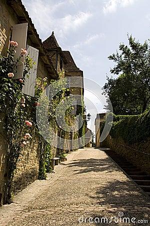 Cobbled hill street