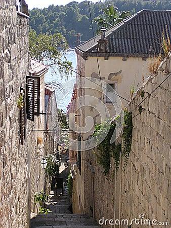 Cobbled Street (Croatia)