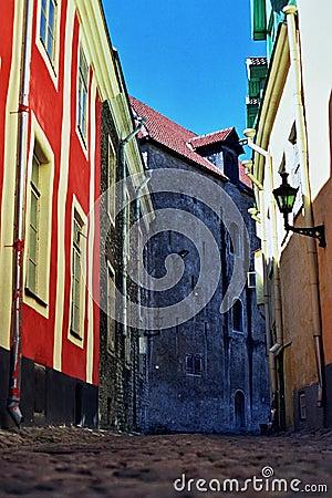 Cobbled Street Tallinn, Estonia