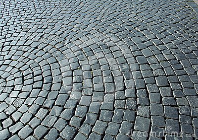 Cobbles in the square