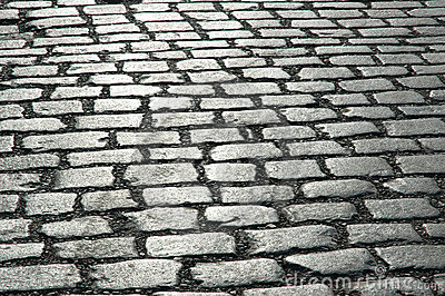 Cobbles on the street -