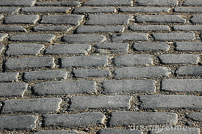 Cobbles on the street