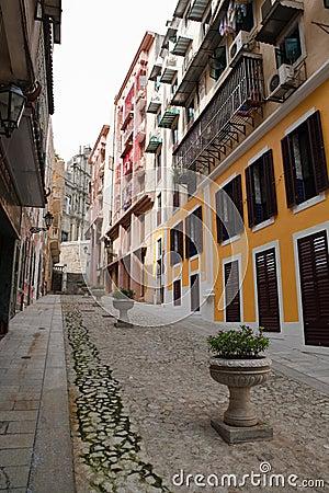 Free Cobblestone Street In Macau Stock Photo - 10969080