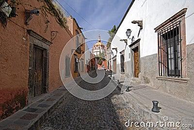 Cobblestone Street in Mexico