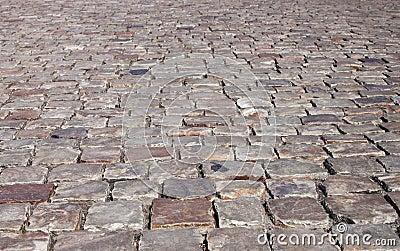 Cobblestone street - RAW format
