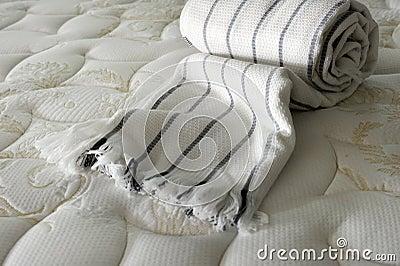 Cobertor na cama