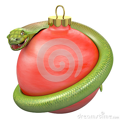Cobra on a red christmas bauble