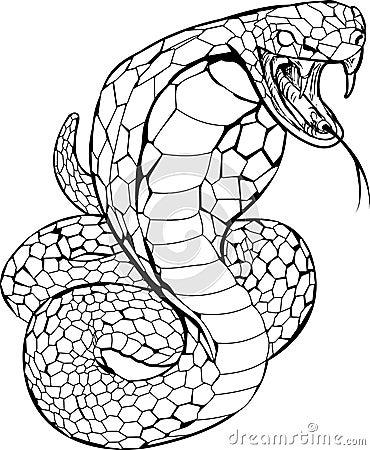 węże wzory tatuażu