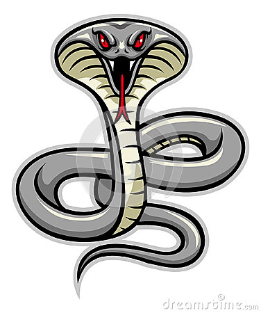 Free Cobra Snake Mascot Royalty Free Stock Images - 48513639