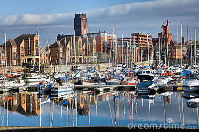 Coburn Docks in Liverpool Editorial Stock Photo
