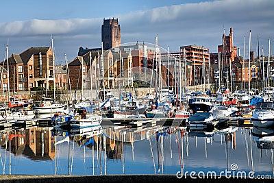Coburn Docks in Liverpool Editorial Stock Photo