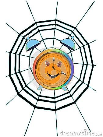Cobweb and clock