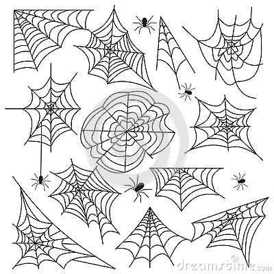 Free Cobweb Set Spider Web Halloween Black Vector Royalty Free Stock Images - 99440749