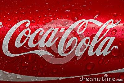 Coca-cola Redactionele Afbeelding