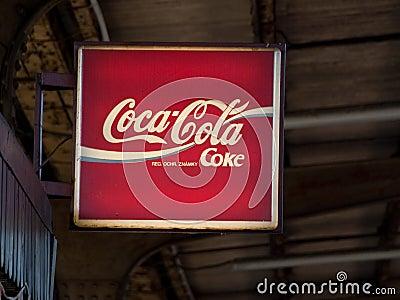 Coca - cola Redaktionell Arkivfoto