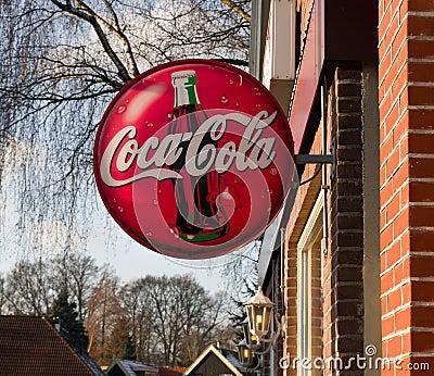 Coca-cola shield Editorial Photography