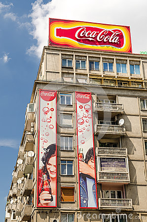 Coca Cola Advertising Editorial Stock Image