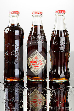 Coca cola bottle Editorial Stock Image