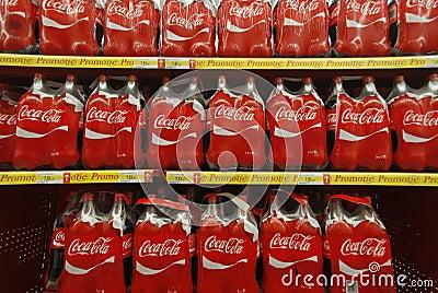 Coca Cola bottles Editorial Image