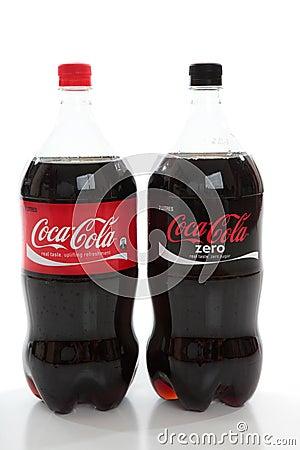 Coca-Cola Bottles of Soda Editorial Stock Image